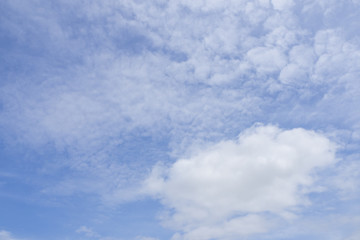 Blue sky background with cloud.