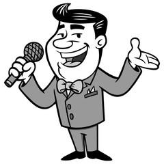 Announcer Illustration
