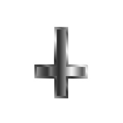 An inverted cross- The Cross of Saint Peter used as an anti-Christian and Satanist symbol.