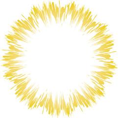 Circular starburst design element, easy to edit