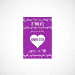 Wedding Invitation Card, Vector, Illustration, Eps File