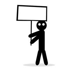 Icon Man mit Schild