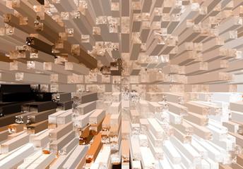 3D texture of cubes