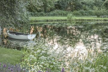 The romantic garden of Sanderumgaard in Denmark