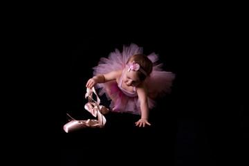 Little ballerina in a pink