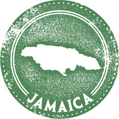 Vintage Jamaica Caribbean Travel Stamp