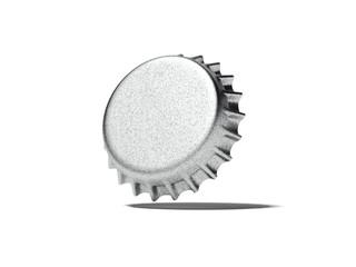 Silver bottle cap. 3d rendering
