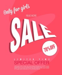 Sale background. Big sale. Sale tag. Sale poster. Sale vector. Special offer for flyer, banner or template design