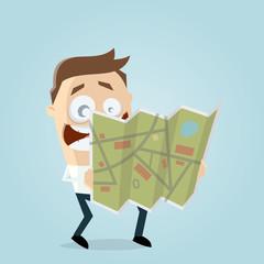 businessman holding a map
