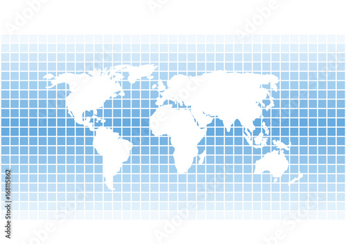 White vector world map silhouette on bright blue squares white vector world map silhouette on bright blue squares background gumiabroncs Images