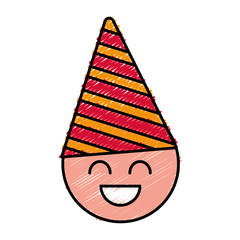 boy with party hat icon