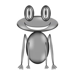 Frog sign icon.
