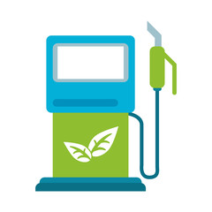 bio fuel gas pump with leaves eco friendly icon image vector illustration design