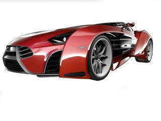Sport Car on soft background