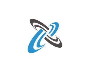 round orbit abstract logo
