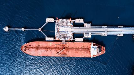 Oil tanker. Loading.