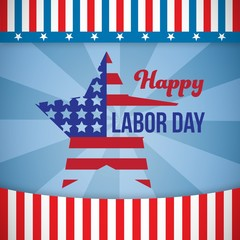 Composite image of composite image of happy labor day text and s