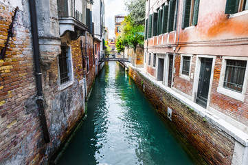 Damage from dampness in Venice