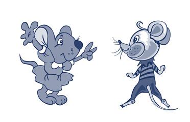 серые мыши