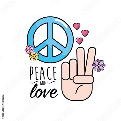 Peace And Love Symbol And Global Spirit Stock Image And Royalty