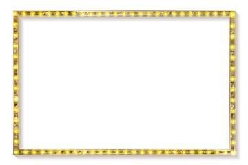 gold frame cinema on a white background.