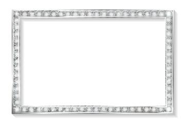 silver frame cinema on a white background.