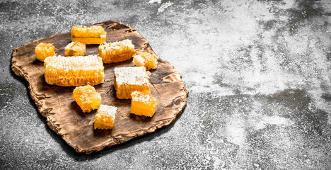 Wall Mural - Fresh honeycomb .