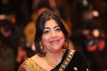 Director and screenwriter Gurinder Chadha arrives for the screening of the movie 'Viceroy' s House' at the 67th Berlinale International Film Festival in Berlin