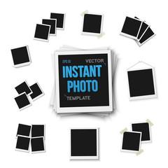 Illustration of Blank Vintage Photo Frame Mockup Set Isolated on a White Background