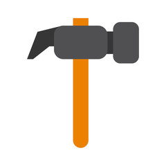 hammer tool icon image vector illustration design