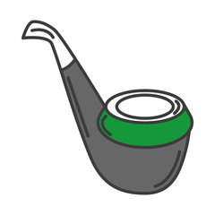 Wooden pipe isolated icon vector illustration design