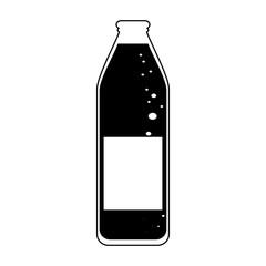 glass bottle icon image vector illustration design  black and white