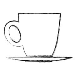ceramic cup of coffee handle beverage vector illustration