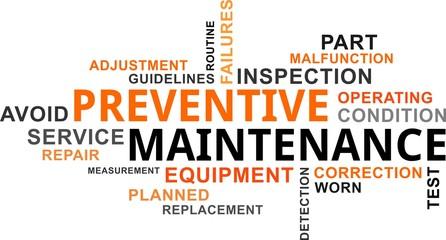 word cloud - preventive maintenance