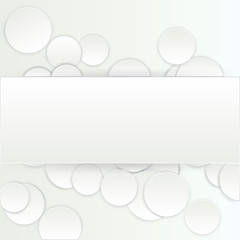 Paper ART  rectangle banner on circle background with drop shadows. Vector illustration