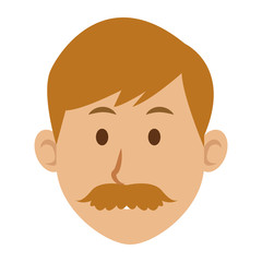 man character face avatar male vector illustration