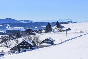 winterliche Landschaft im Allgäu