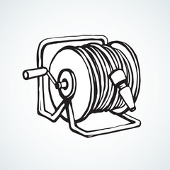Roll the hose. Vector drawing