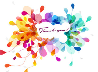 Abstract colored flower background with shapes and lines.