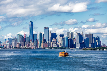 Staten Island Ferry and Manhattan Skyline