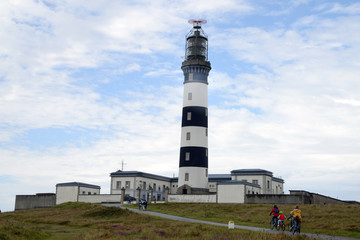Le phare du Creac'h sur l'île d'Ouessant  Wall mural
