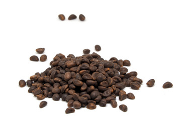 The Seed Coffee isolated on white background.