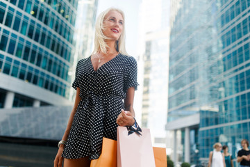 Photo of woman with shopping