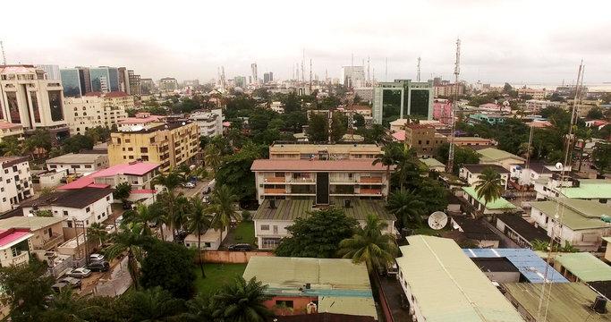 Aerial view over Lagos, Nigeria