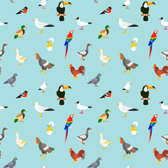 Birds seamless pattern.
