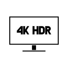 4k HDR monitor vector logo