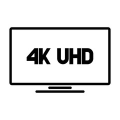 4k Ultra HD TV vector logo