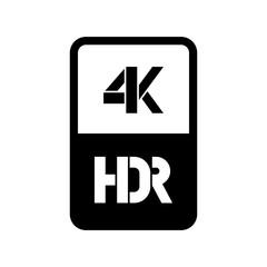 4k HDR format vector cut logo