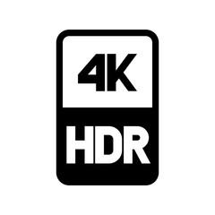 4k HDR format vector logo
