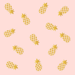 Pink  With Pineapple  Background